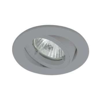 Ansell Twistlock IP44 35W Gimbal GU10 LED Silver Grey Die-Cast Outdoor Downlight