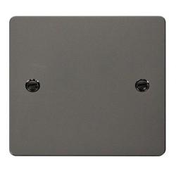 Click Define Black Nickel Flat Plate 1 Gang Blank Plate