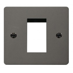 Click Define Black Nickel Flat Plate 1 Gang Single Aperture