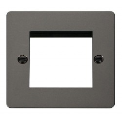 Click Define Black Nickel Flat Plate 1 Gang Twin Aperture