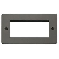 Click Define Black Nickel Flat Plate 2 Gang Quad Aperture