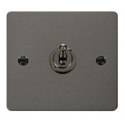 Click Define Black Nickel Flat Plate 10AX 1 Gang 2 Way Toggle Switch