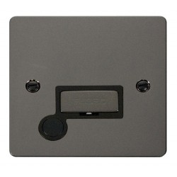 Click Define Black Nickel Flat Plate Ingot 13A Connection Unit and Flex Outlet with Black Insert