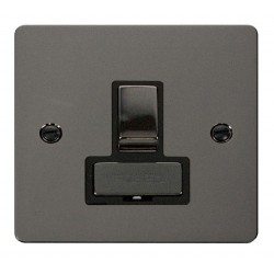 Click Define Black Nickel Flat Plate Ingot 13A Switched Connection Unit with Black Insert