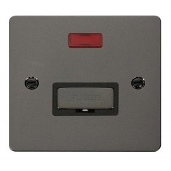 Click Define Black Nickel Flat Plate Ingot 13A Connection Unit with Neon with Black Insert