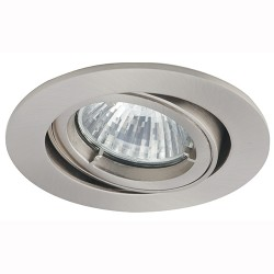 Ansell Twistlock 50W Gimbal GU10 Satin Chrome Die-Cast Downlight
