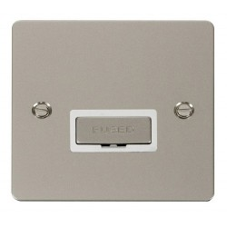 Click Define Pearl Nickel Flat Plate Ingot 13A Connection Unit with White Insert