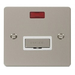 Click Define Pearl Nickel Flat Plate Ingot 13A Connection Unit with Neon with White Insert