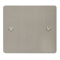 Click Define Stainless Steel Flat Plate 1 Gang Blank Plate