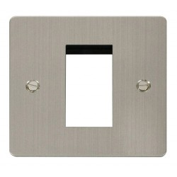 Click Define Stainless Steel Flat Plate 1 Gang Single Aperture