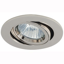 Ansell Twistlock 50W Gimbal GU10 Chrome Die-Cast Downlight