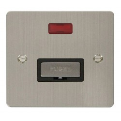 Click Define Stainless Steel Flat Plate Ingot 13A Connection Unit with Neon with Black Insert