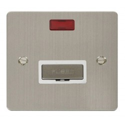 Click Define Stainless Steel Flat Plate Ingot 13A Connection Unit with Neon with White Insert