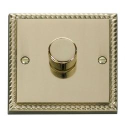 Click Deco Georgian Cast Brass 1 Gang 2 Way 400W Dimmer Switch