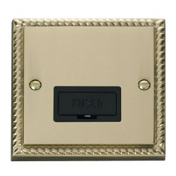 Click Deco Georgian Cast Brass 13A Fused Connection Unit with Black Insert