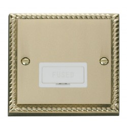 Click Deco Georgian Cast Brass 13A Fused Connection Unit with White Insert