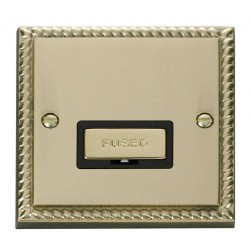 Click Deco Georgian Cast Brass 13A Fused Ingot Connection Unit with Black Insert