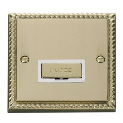 Click Deco Georgian Cast Brass 13A Fused Ingot Connection Unit with White Insert