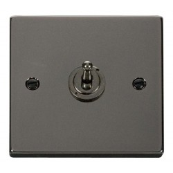 Click Deco Victorian Black Nickel 1 Gang 2 Way 10AX Toggle Switch