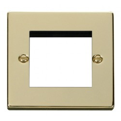 Click Deco Victorian Polished Brass Single Plate Twin Media Module Aperture