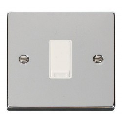 Click Deco Victorian Polished Chrome 1 Gang 2 Way 10AX Switch with White Insert