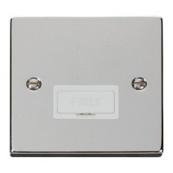 Click Deco Victorian Polished Chrome 13A Fused Connection Unit with White Insert