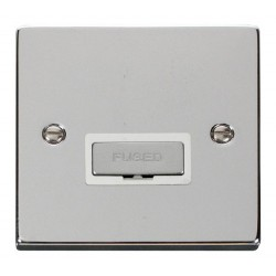 Click Deco Victorian Polished Chrome 13A Fused Ingot Connection Unit with White Insert