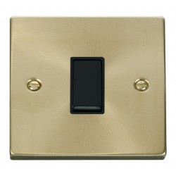 Click Deco Victorian Satin Brass 1 Gang Intermediate 10AX Switch with Black Insert