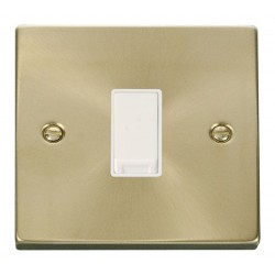 Click Deco Victorian Satin Brass 1 Gang Intermediate 10AX Switch with White Insert