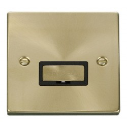 Click Deco Victorian Satin Brass 13A Fused Ingot Connection Unit with Black Insert