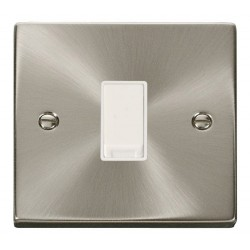 Click Deco Victorian Satin Chrome 1 Gang 2 Way 10AX Switch with White Insert