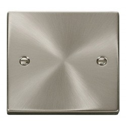 Click Deco Victorian Satin Chrome 1 Gang Blank Plate