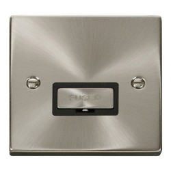Click Deco Victorian Satin Chrome 13A Fused Ingot Connection Unit with Black Insert