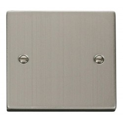 Click Deco Victorian Stainless Steel 1 Gang Blank Plate
