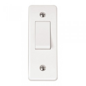Click Mode White 1 Gang 2 Way 10A Architrave Switch