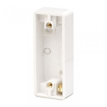Click Mode White 1 Gang Architrave Pattress Box