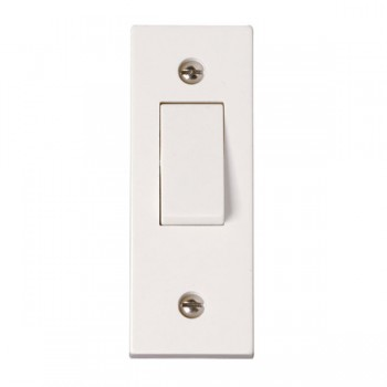 Click Polar Polar White 1 Gang 2 Way 10A Architrave Plate Switch