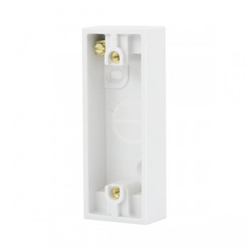 Click Polar Polar White 1 Gang Architrave Pattress Box