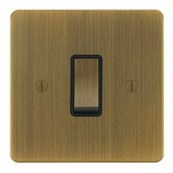 Focus SB Ambassador AAB11.1/3B 1 gang 20 amp Intermediate rocker switch in Antique Brass