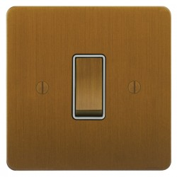 Focus SB Ambassador ABA11.1W 1 gang 20 amp 2 way rocker switch in Bronze Antique with white inserts