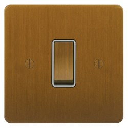 Focus SB Ambassador ABA11.1/3W 1 gang 20 amp Intermediate rocker switch in Bronze Antique