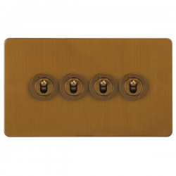 Focus SB Ambassador ABA14.4 4 gang 20 amp 2 way toggle switch in Bronze Antique