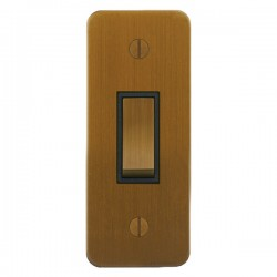 Focus SB Ambassador ABA16.1B 1 gang 20 amp 2 way architrave switch in Bronze Antique with black inserts