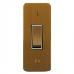 Focus SB Ambassador ABA16.1W 1 gang 20 amp 2 way architrave switch in Bronze Antique with white inserts