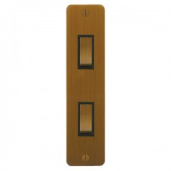 Focus SB Ambassador ABA16.2B 2 gang 20 amp 2 way architrave switch in Bronze Antique with black inserts