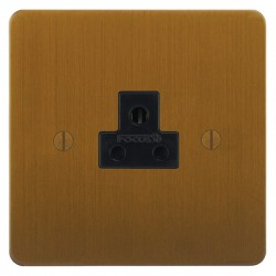 Focus SB Ambassador ABA19.1B 1 gang 2 amp unswitched socket in Bronze Antique with black inserts