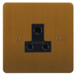 Focus SB Ambassador ABA20.1B 1 gang 5 amp unswitched socket in Bronze Antique with black inserts