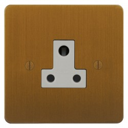 Focus SB Ambassador ABA20.1W 1 gang 5 amp unswitched socket in Bronze Antique with white inserts