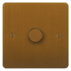 Focus SB Ambassador ABA21.1 1 gang 2 way 250W (mains and low voltage) dimmer in Bronze Antique