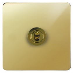 Focus SB Ambassador APB14.1/3 1 gang 20 amp Intermediate toggle switch in Polished Brass